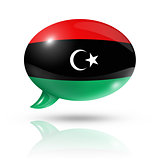 Libyan flag speech bubble