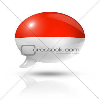 Monaco flag speech bubble