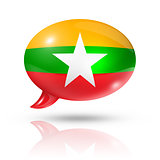 Burma Myanmar flag speech bubble