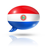 Paraguayan flag speech bubble