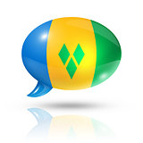 Saint Vincent and the Grenadines flag speech bubble