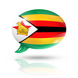 Zimbabwean flag speech bubble
