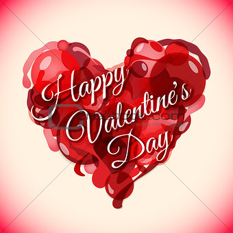 abstract red heart valentines day background