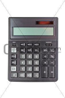 Top view of isolated calculator