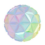 Colorful abstract sphere