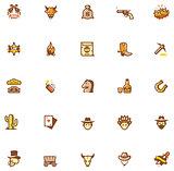 Wild West icon set