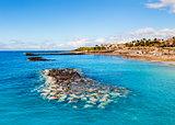 Picturesque El Duque beach in Costa Adeje