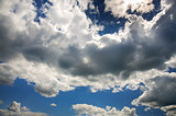 Clouds in the blue summer sky