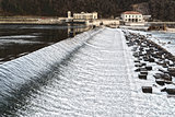 Dam on the river Ticino, Italy