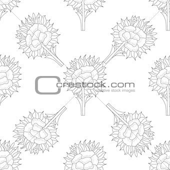 Abstract Seamless pattern with floral background