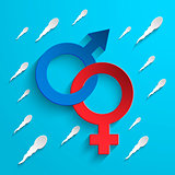 Coloured Gender Sign Background
