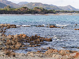 Landscape of Cala Ginepro beach in the gulf of Orosei Sardinia I