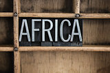 Africa Concept Metal Letterpress Word in Drawer