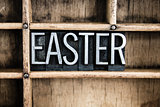 Easter Concept Metal Letterpress Word in Drawer