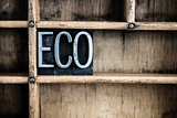 Eco Concept Metal Letterpress Word in Drawer