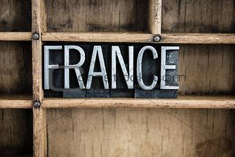 France Concept Metal Letterpress Word in Drawer
