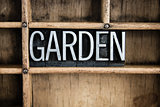 Garden Concept Metal Letterpress Word in Drawer