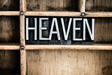 Heaven Concept Metal Letterpress Word in Drawer