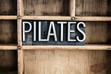 Pilates Concept Metal Letterpress Word in Drawer