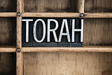 Torah Concept Metal Letterpress Word in Drawer