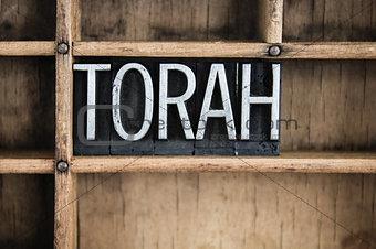 Torah Concept Metal Letterpress Word in Drawer