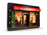 3d restaurant inside tablet