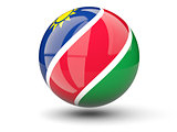 Round icon of flag of namibia