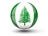 Round icon of flag of norfolk island