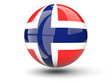 Round icon of flag of norway