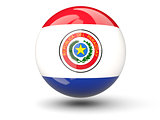 Round icon of flag of paraguay