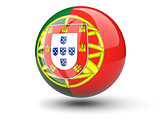 Round icon of flag of portugal