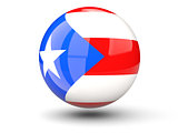 Round icon of flag of puerto rico