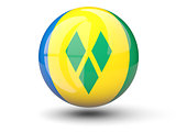 Round icon of flag of saint vincen
