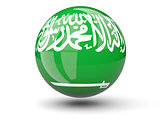 Round icon of flag of saudi arabia