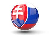 Round icon of flag of slovakia