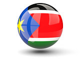 Round icon of flag of south sudan