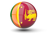 Round icon of flag of sri lanka
