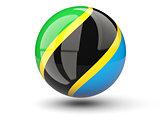 Round icon of flag of tanzania
