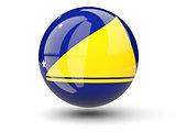 Round icon of flag of tokelau