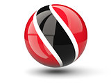 Round icon of flag of trinidad and tobago