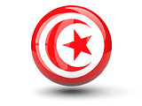 Round icon of flag of tunisia