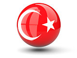 Round icon of flag of turkey