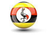 Round icon of flag of uganda