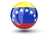 Round icon of flag of venezuela
