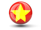 Round icon of flag of vietnam