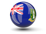 Round icon of flag of british virgin islands