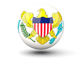 Round icon of flag of usa virgin islands