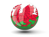 Round icon of flag of wales
