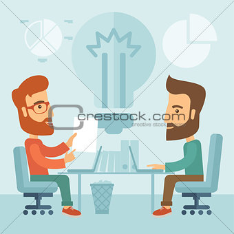 Business brainstorming.
