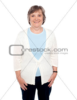 Attractive cheerful casual senior woman